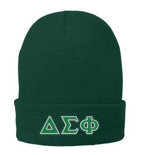 Delta Sigma Phi Big Greek Lettered Knit Cap