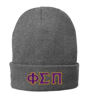 Phi Sigma Pi Big Letter Knit Cap