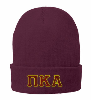 Pi Kappa Alpha Big Greek Lettered Knit Cap
