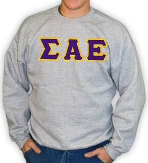 Sigma Alpha Epsilon Lettered Crewneck Sweatshirt