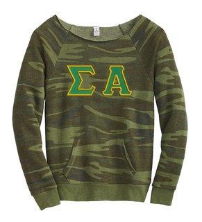 DISCOUNT-Sigma Alpha Maniac Camo Fleece Sweatshirt