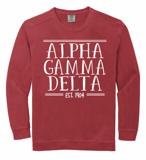 Alpha Gamma Delta Comfort Colors Established Crewneck Sweatshirt