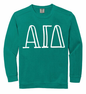 Alpha Gamma Delta Comfort Colors Greek Crewneck Sweatshirt