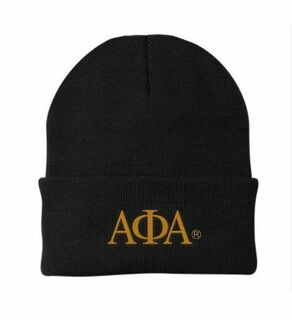 Alpha Phi Alpha Greek Letter Knit Cap