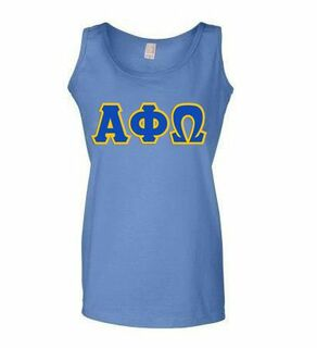DISCOUNT-Alpha Phi Omega Lettered Ladies Tank Top