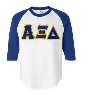 DISCOUNT-Alpha Xi Delta Lettered Raglan Shirt