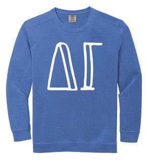Delta Gamma Comfort Colors Greek Crewneck Sweatshirt