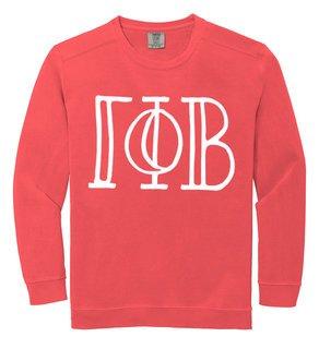 Gamma Phi Beta Comfort Colors Greek Crewneck Sweatshirt