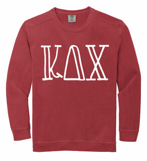Kappa Delta Chi Comfort Colors Greek Crewneck Sweatshirt