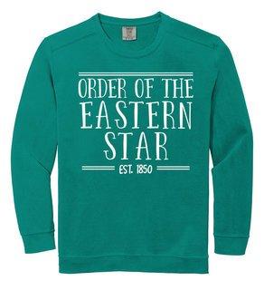 Order Of Eastern Star Comfort Colors Custom Crewneck Sweatshirt