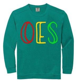 Order Of Eastern Star Comfort Colors Greek Crewneck Sweatshirt