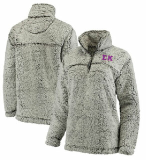 Sigma Kappa Sherpa Quarter Zip Pullover