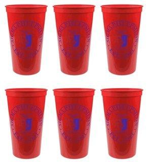 Sigma Phi Epsilon Set of 6 Big Plastic Stadium Cups