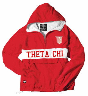 Theta Chi Charles River Custom Stripe Greek Pullover Anorak