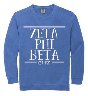 Zeta Phi Beta Comfort Colors Custom Crewneck Sweatshirt