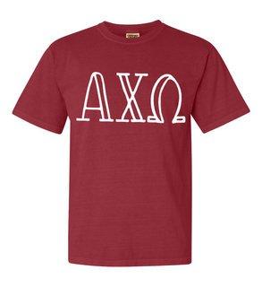 Alpha Chi Omega Comfort Colors Heavyweight Design T-Shirt