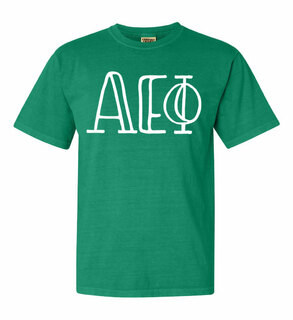 Alpha Epsilon Phi Comfort Colors Heavyweight Design T-Shirt