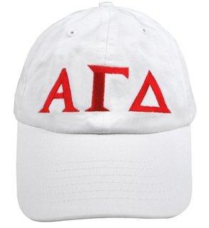 Alpha Gamma Delta Greek Letter Hat