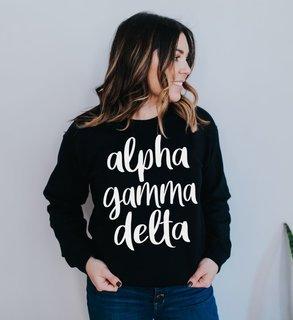 Alpha Gamma Delta Script Crew Sweatshirt