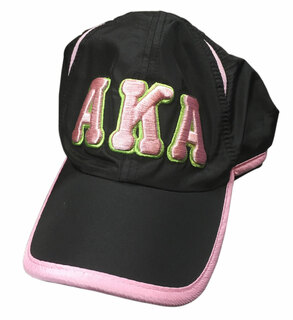 Alpha Kappa Alpha Hat - Black Featherlight Cap