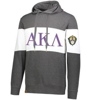 Alpha Kappa Lambda Ivy League Hoodie W Crest On Left Sleeve