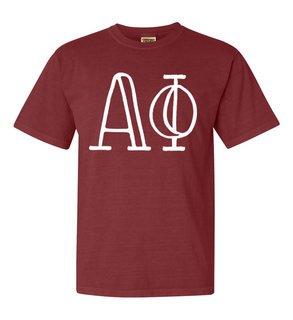 Alpha Phi Comfort Colors Heavyweight Design T-Shirt