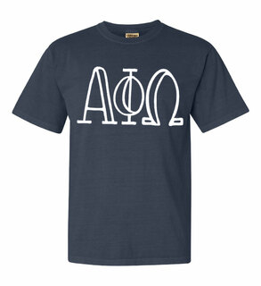 Alpha Phi Omega Comfort Colors Heavyweight Design T-Shirt