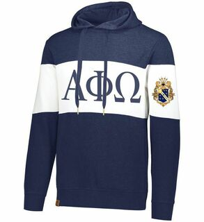 Alpha Phi Omega Ivy League Hoodie W Crest On Left Sleeve