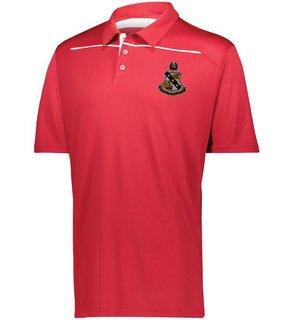 Alpha Sigma Phi Greek Crest Emblem Defer Polo