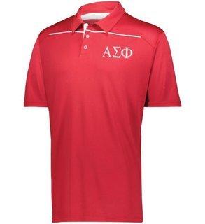 Alpha Sigma Phi Subtle Greek Letter Defer Polo