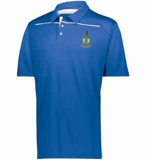 Alpha Tau Omega Greek Crest Emblem Defer Polo
