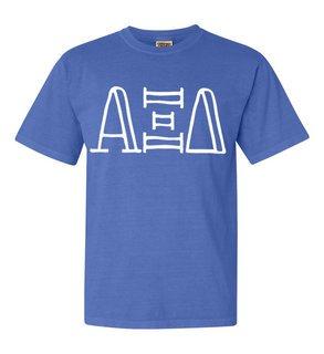 Alpha Xi Delta Comfort Colors Heavyweight Design T-Shirt