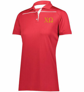 Chi Omega Greek Letter Defer Polo