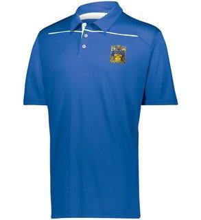 Delta Upsilon Greek Crest Emblem Defer Polo