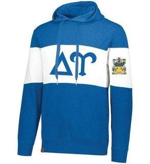 Delta Upsilon Ivy League Hoodie W Crest On Left Sleeve