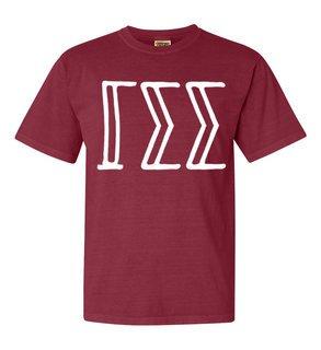 Gamma Sigma Sigma Comfort Colors Heavyweight Design T-Shirt