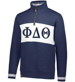 Greek Letters Ivy League 1/4 Zip Pullover Sweatshirt