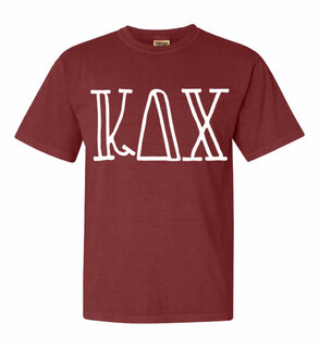 Kappa Delta Chi Comfort Colors Heavyweight Design T-Shirt