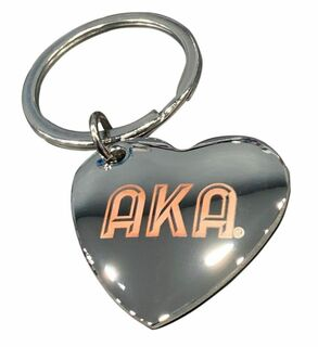 AKA Engraved Heart Key Chain - 50% Off!