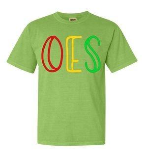 Order Of Eastern Star Comfort Colors Heavyweight Design T-Shirt