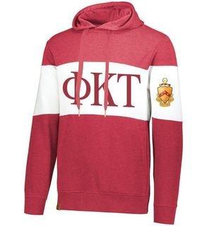 Phi Kappa Tau Ivy League Hoodie W Crest On Left Sleeve