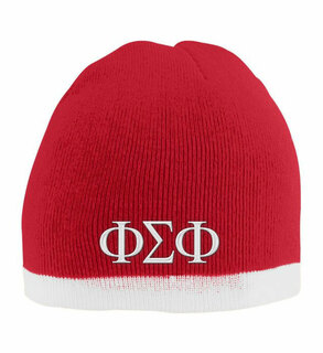 Phi Sigma Phi Two Tone Knit Beanie