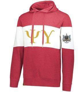 Psi Upsilon Ivy League Hoodie W Crest On Left Sleeve