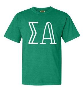 Sigma Alpha Comfort Colors Heavyweight Design T-Shirt
