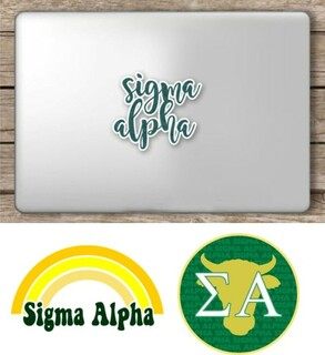 Sigma Alpha Sorority Sticker Collection - SAVE!