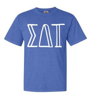 Sigma Delta Tau Comfort Colors Heavyweight Design T-Shirt