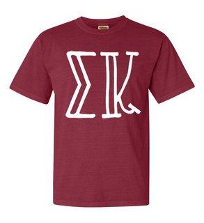 Sigma Kappa Comfort Colors Heavyweight Design T-Shirt
