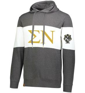 Sigma Nu Ivy League Hoodie W Crest On Left Sleeve