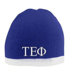 Tau Epsilon Phi Two Tone Knit Beanie