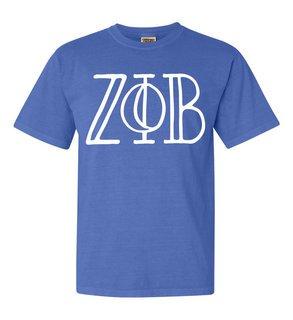 Zeta Phi Beta Comfort Colors Heavyweight Design T-Shirt